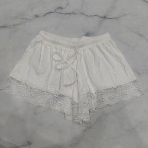 ASOS White Lace Trim Comfort Shorts Size 2